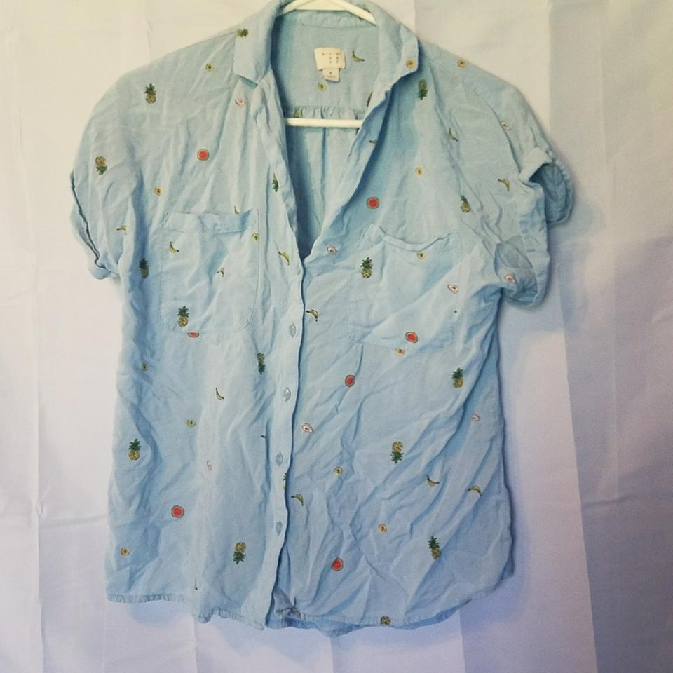 9bbdc9720 A New Day Light Blue 018 02 3368 Button-down Top Size 4 (S) - Tradesy