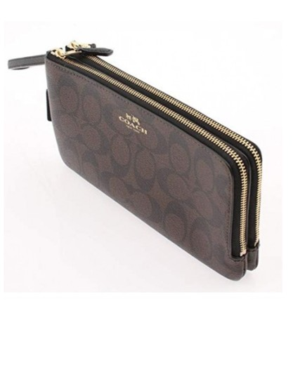 Coach Wristlet in Brown /Black Image 0