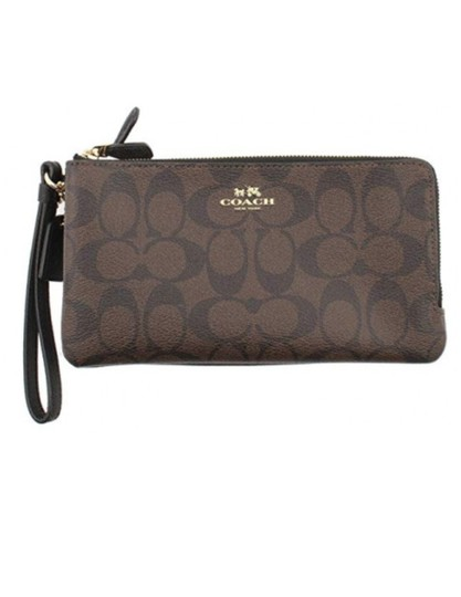 Coach Wristlet in Brown /Black Image 1