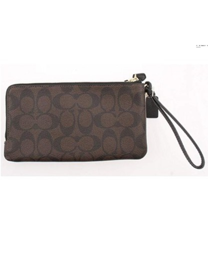 Coach Wristlet in Brown /Black Image 2