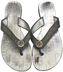 3d61e57d92ef Silver Tory Burch Sandals - Up to 90% off at Tradesy