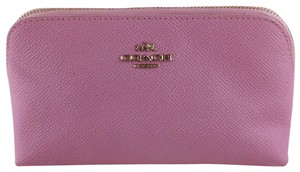 Coach COACH PINK PEBBLE LEATHER COSMETIC CASE