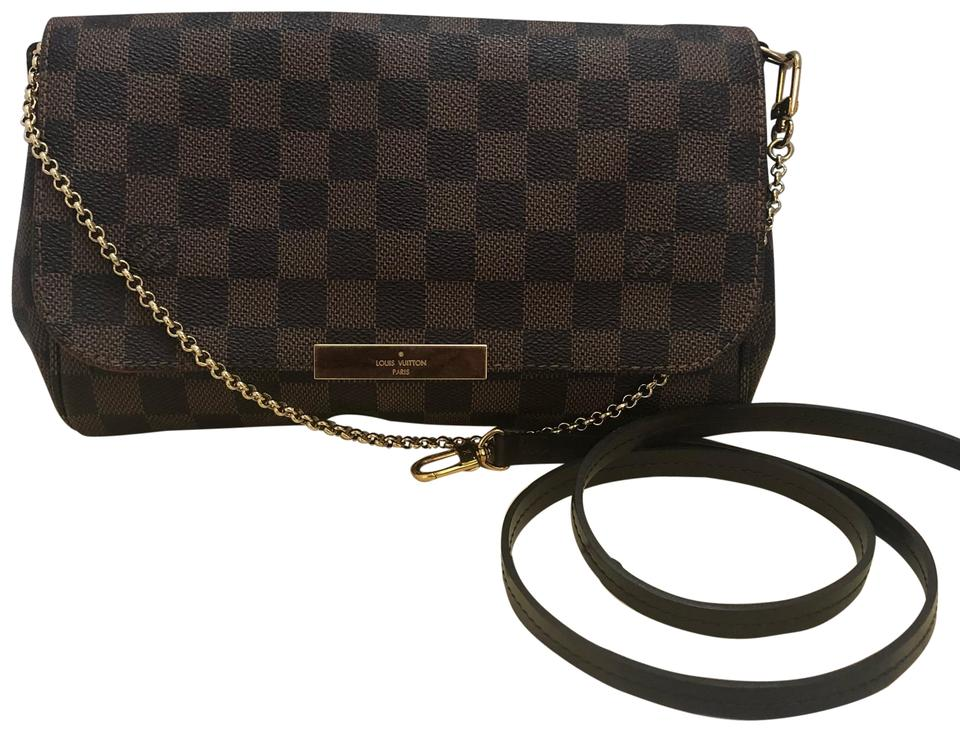6d6f8f649bf93 Louis Vuitton Favorite Mm Brown Damier Ebene Canvas Cross Body Bag ...
