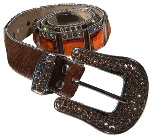 B.B. Simon B.B. Simon Fully Big Block Swarovski Monster Belt