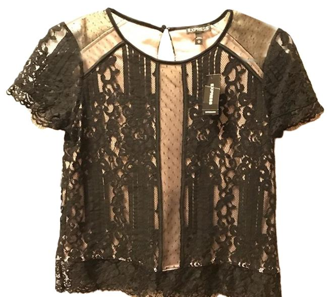 Preload https://img-static.tradesy.com/item/25281169/express-black-lace-shirt-halter-top-size-2-xs-0-1-650-650.jpg