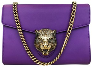 cd0022636bc Gucci Animalier Leather Wallet On Chain Cross Body Bag