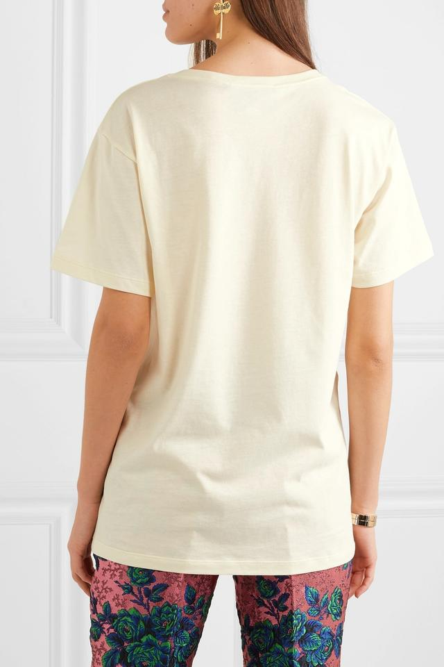 976b98dc3 Gucci Jersey Sequin-embellished Cotton-jersey T-shirt Tee Shirt Size ...