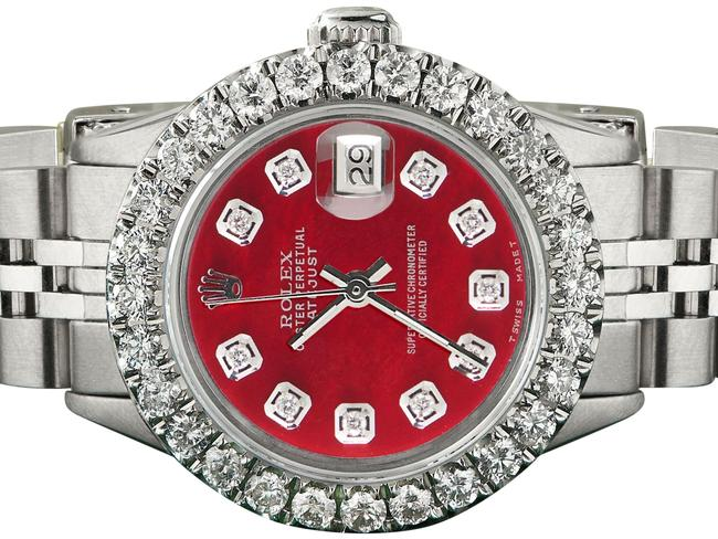 Rolex Steel Candy Datejust 26mm Jubilee 2ct Diamond Bezel / Red Mop Dial Watch Rolex Steel Candy Datejust 26mm Jubilee 2ct Diamond Bezel / Red Mop Dial Watch Image 1