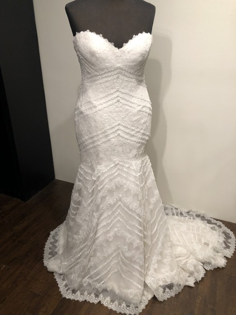 Sottero and Midgley Antique Ivory Lace Parisia Formal Wedding Dress Size 16 (XL, Plus 0x) Sottero and Midgley Antique Ivory Lace Parisia Formal Wedding Dress Size 16 (XL, Plus 0x) Image 1