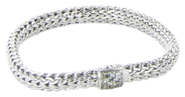Item - Grey Sapphire Sterling Classic Chain 6mm Clasp 925 Silver Bracelet