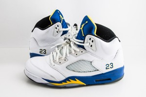 Nike Blue Jordan 5 Retro Laney 2013 Shoes