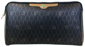 Dior Christian Dior Monogram Coated Canvas Cosmetic Pouch Make Up Bag SALE!