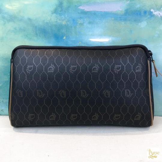 Dior Christian Dior Monogram Coated Canvas Cosmetic Pouch Make Up Bag SALE! Image 3