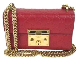 5d111038735 Gucci Gg Leather Shoulder Bag · Gucci. Padlock Small Signature Red ...