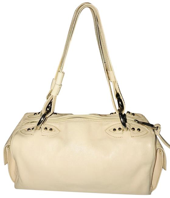 Item - Vintage Pebble Beige Leather Satchel