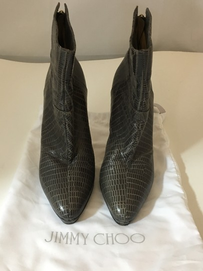 Jimmy Choo Embossed Louboutin TAUPE Boots Image 1