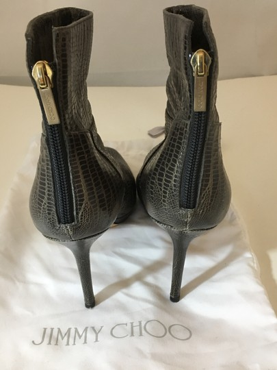 Jimmy Choo Embossed Louboutin TAUPE Boots Image 2
