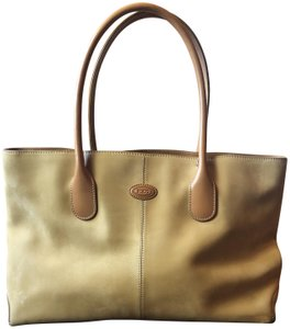 Tods Suede Tote in camel