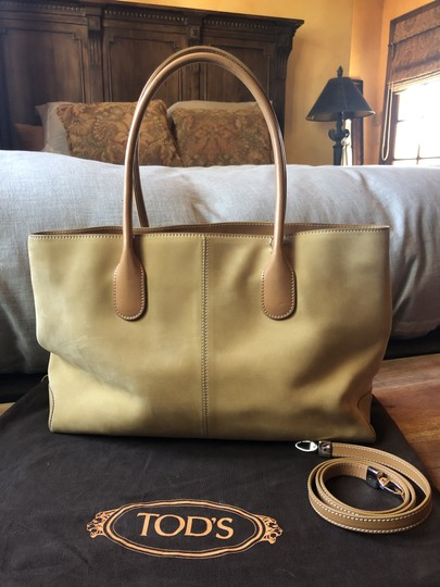 Tods Suede Tote in camel Image 1