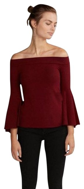 Preload https://img-static.tradesy.com/item/25282043/express-maroon-new-fitted-off-the-shoulder-bell-sleeve-cardigan-size-2-xs-0-1-650-650.jpg