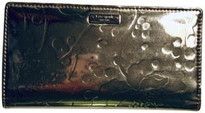 Kate Spade Kate Spade Gold Japanese Floral Embossed Stacey Wallet