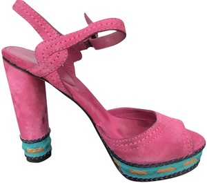 B by brain atwood multi hot pink Sandals