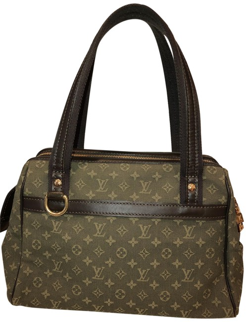 Item - Josephine Shoulder Classic Lv Green Canvas Weekend/Travel Bag