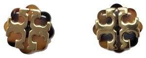 Tory Burch Tory (New) Burch Limited Tostoise &Gold Stud flower logo