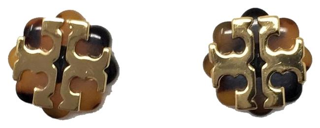 Item - Yellow and Black Stud (New) Limited Tostoise &gold Flower Logo Earrings