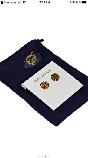 Tory Burch Tory (New) Burch Limited Tostoise &Gold Stud flower logo Image 1