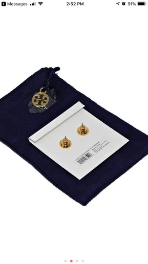 Tory Burch Tory (New) Burch Limited Tostoise &Gold Stud flower logo Image 2