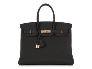 Hermès Hr.q0315.06 2018 Gold Hardware Togo Birkin 35 Satchel in Black