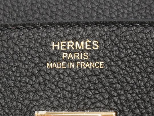 Hermès Hr.q0315.06 2018 Gold Hardware Togo Birkin 35 Satchel in Black Image 8