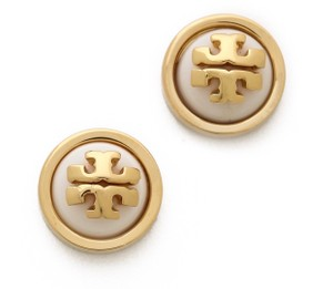 Tory Burch (New) Tory Burch Gold and White stud melody Earrings