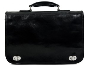Time Resistance Leather Briefcase Brown Briefcase Laptop Bag