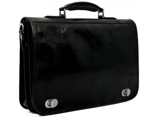 Time Resistance Leather Briefcase Brown Briefcase Laptop Bag Image 4