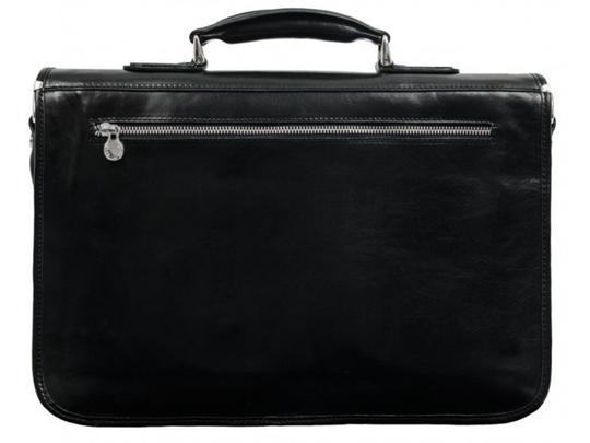 Time Resistance Leather Briefcase Brown Briefcase Laptop Bag Image 5