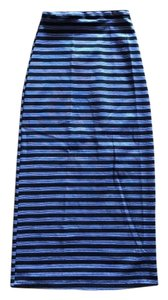 Reformation Skirt blue with black stripes