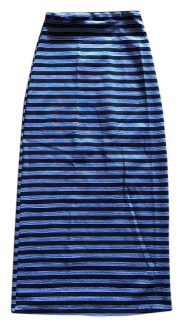 Preload https://img-static.tradesy.com/item/25282369/reformation-blue-with-black-stripes-high-waisted-skirt-size-00-xxs-24-0-1-650-650.jpg