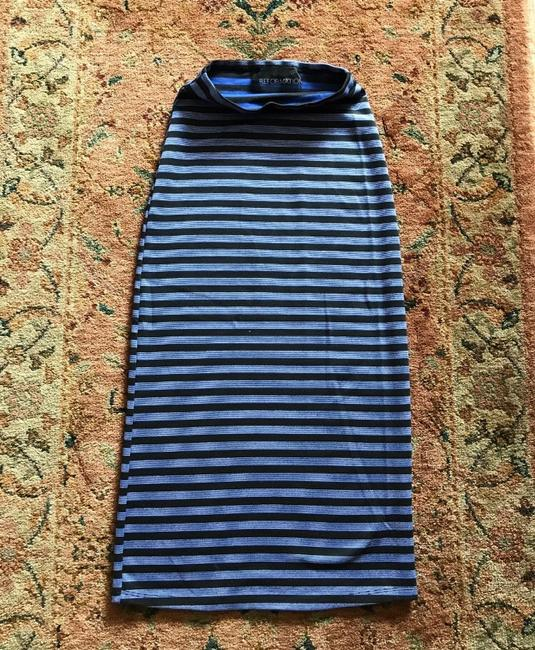 Reformation Skirt blue with black stripes Image 2