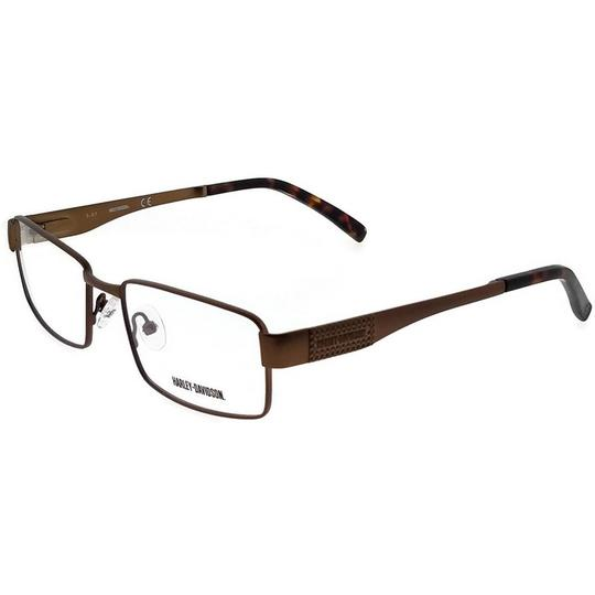 Harley Davidson HD0718-048-53 Square Men's Brown Frame Clear Lens Eyeglasses Image 0