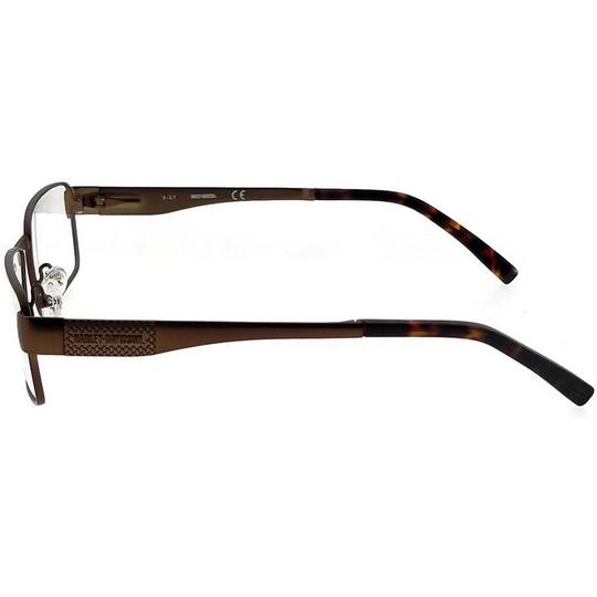 Harley Davidson HD0718-048-53 Square Men's Brown Frame Clear Lens Eyeglasses Image 2