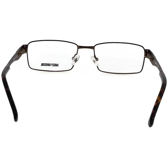 Harley Davidson HD0718-048-53 Square Men's Brown Frame Clear Lens Eyeglasses Image 3