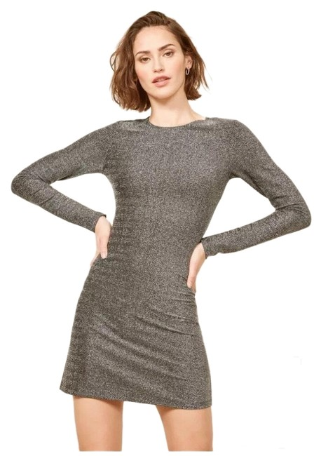 Preload https://img-static.tradesy.com/item/25282396/reformation-silver-redford-short-cocktail-dress-size-8-m-0-1-650-650.jpg