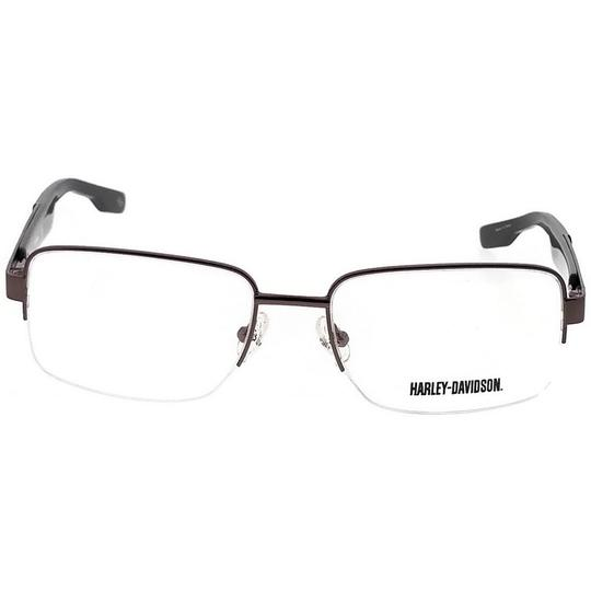 Harley Davidson HD0724-008-55 Rectangle Men's Brown Frame Clear Lens Eyeglasses Image 1
