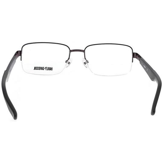 Harley Davidson HD0724-008-55 Rectangle Men's Brown Frame Clear Lens Eyeglasses Image 3