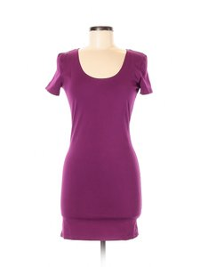 PINK short dress Purple Bodycon Sheath Jersey Cut-out on Tradesy