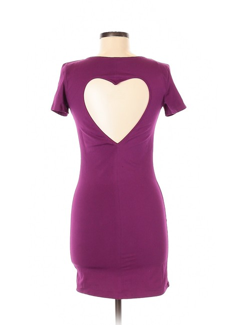PINK short dress Purple Bodycon Sheath Jersey Cut-out on Tradesy Image 1