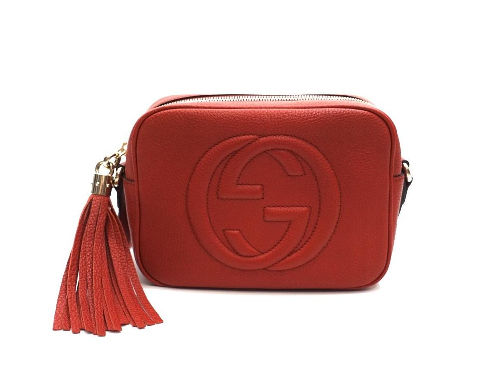 73c27208dc5a Gucci Soho Disco Gg Logo Red Leather Cross Body Bag - Tradesy