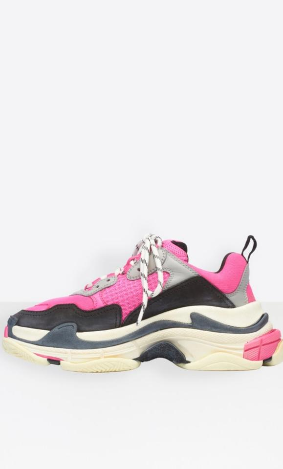d4f5531284 Balenciaga Pink Grey White New Triple 5 Sneakers Size EU 35 (Approx. US 5)  Regular (M, B) - Tradesy